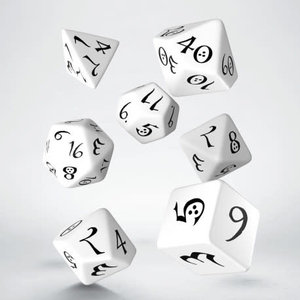Q Workshop Q Workshop: Classic Polyhedral Dice Set -  White/Black