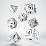 Q Workshop Q Workshop: Elvish Polyhedral Dice Set - White/Black