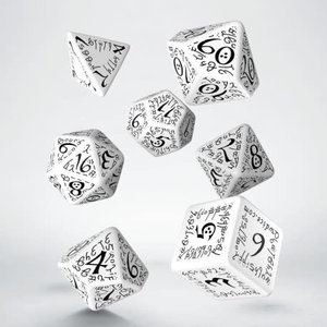Q Workshop Q Workshop: Elvish Polyhedral Dice Set - White/Black
