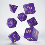 Q Workshop Q Workshop Classic RPG purple/yellow dice set