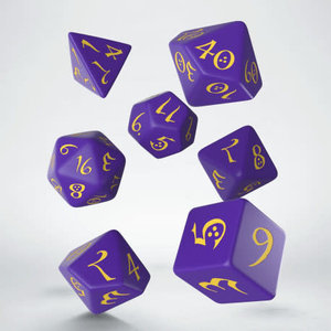 Q Workshop Q Workshop Classic RPG purple/yellow dice set