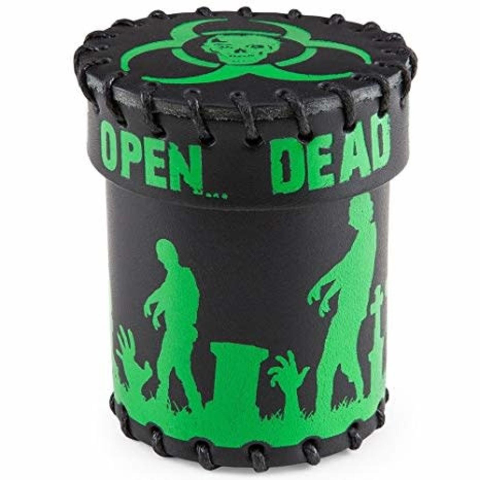Q Workshop Q-Workshop Leather Dice Cup: Zombie