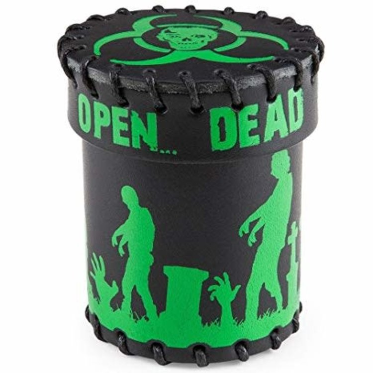 Q Workshop Q-Workshop Leather Dice Cup: Zombie