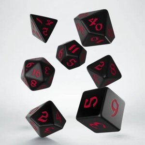 Q Workshop Q Workshop Runic Black/Red dice set