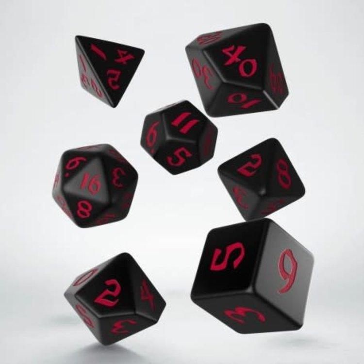 Q Workshop Q Workshop Runic Black/Red dice set