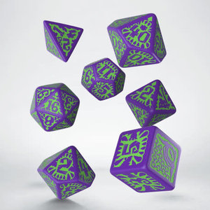 Q Workshop Q Workshop Pathfinder goblin purple/green dice set