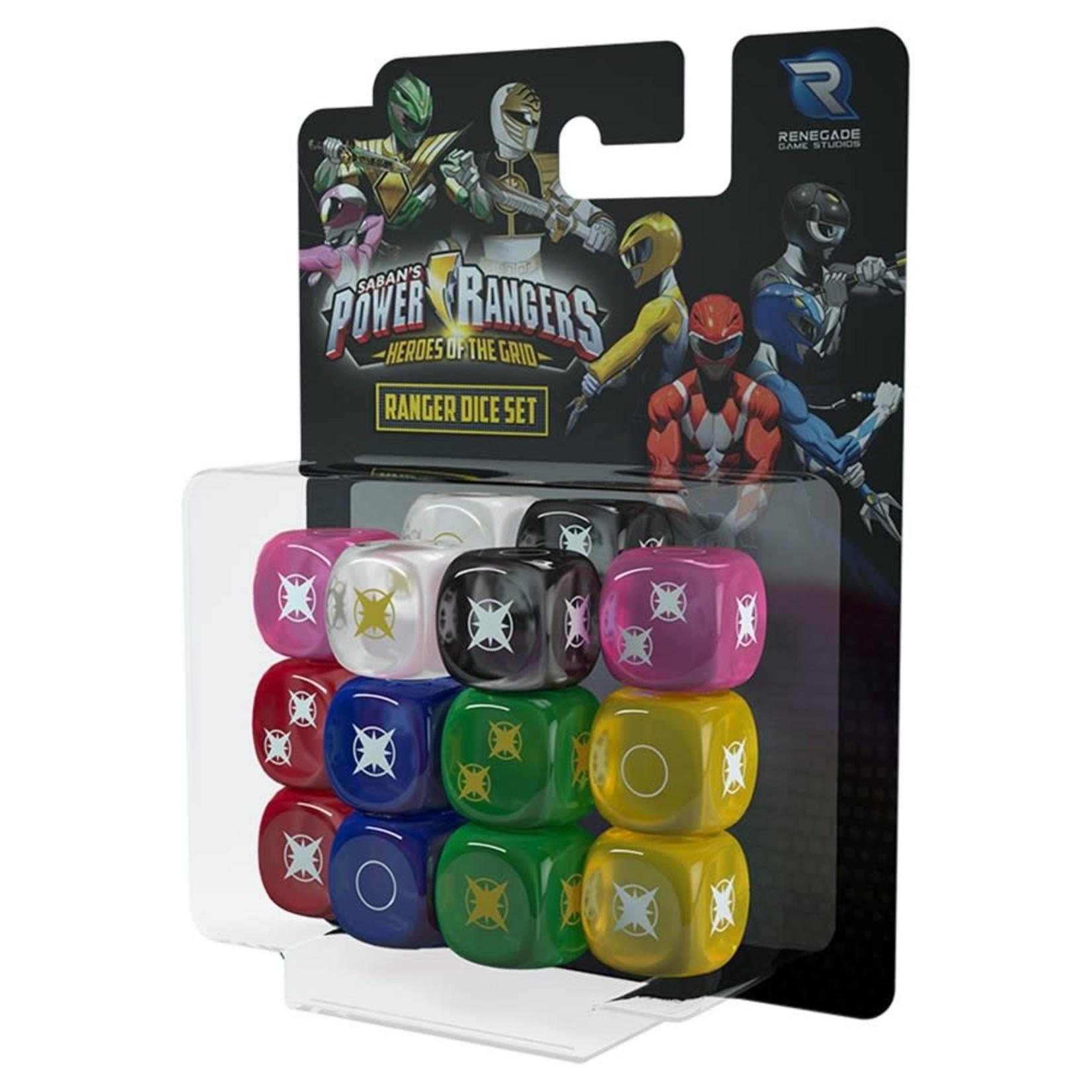 Renegade Power Rangers: Heroes of the Grid - Ranger Dice Set