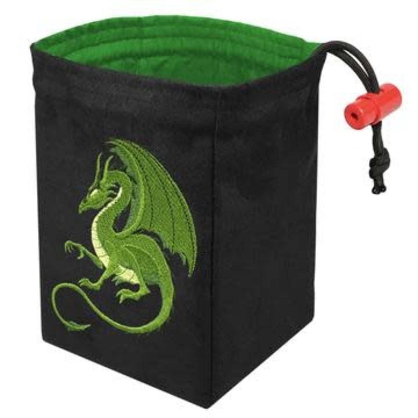 Red King Dice Bag: Fantasy Green Dragon