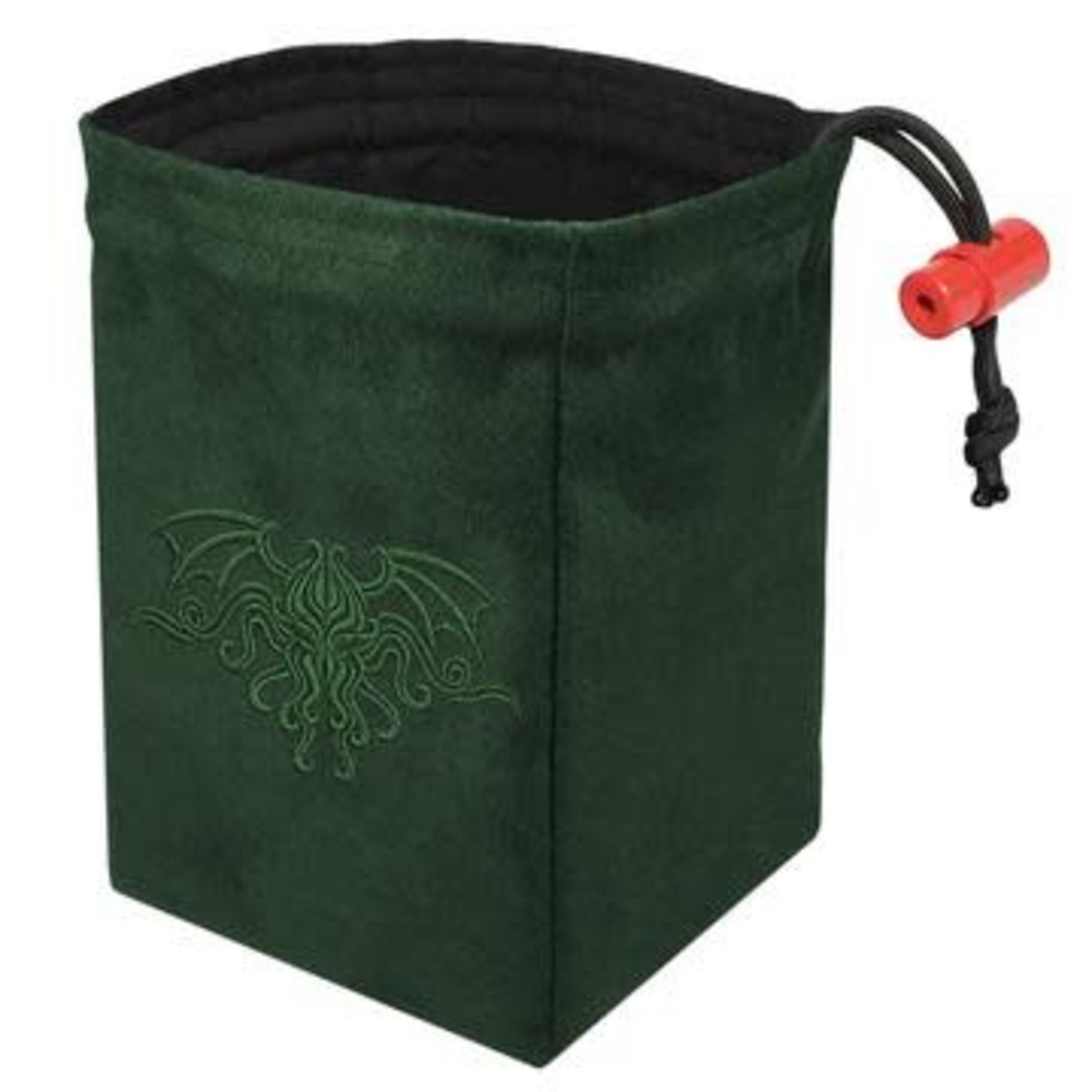 Red King Dice Bag: Cthulhu Crest Green