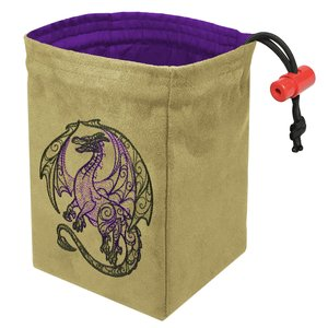 Red King Dice Bag: Dragon Doodle