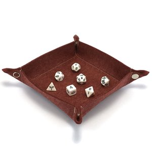Red King Collapsible Dice Tray (Red)