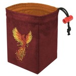 Red King Dice Bag: Phoenix Rising Red