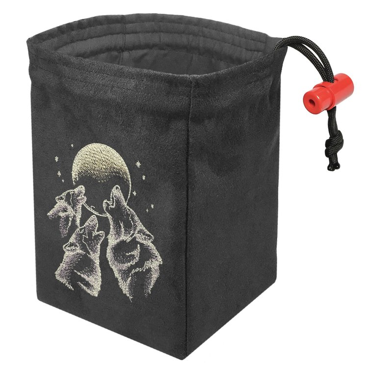 Red King Dice Bag: Wolf Trio (Glow in the Dark)