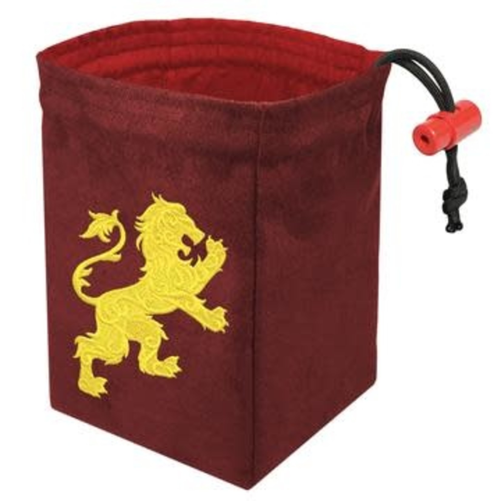 Red King Dice Bag: Gilded Neon Lion