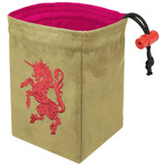 Red King Dice Bag: Gilded Neon Unicorn