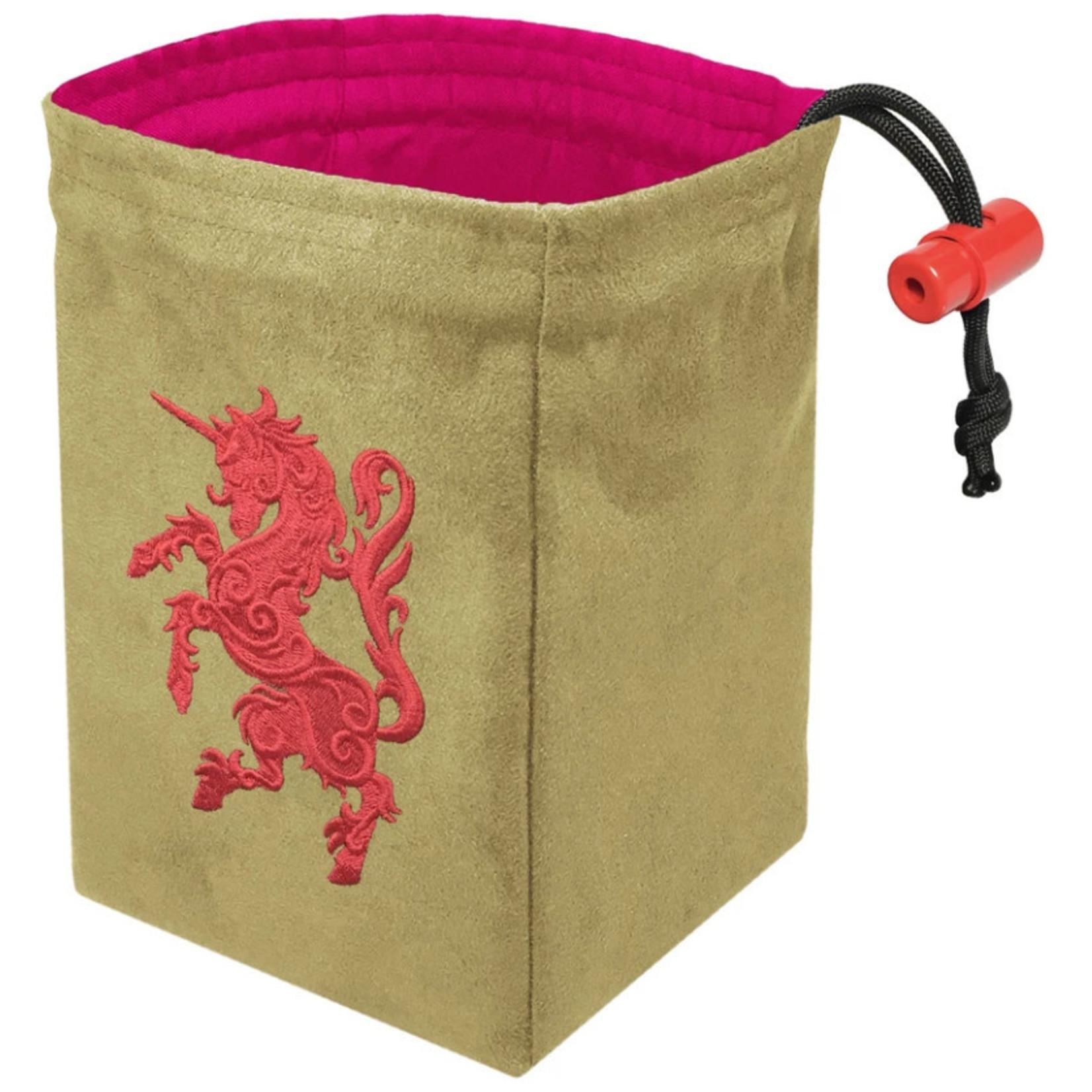 Red King Dice Bag: Gilded Neon Unicorn