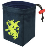 Red King Dice Bag: Gilded Neon Dragon