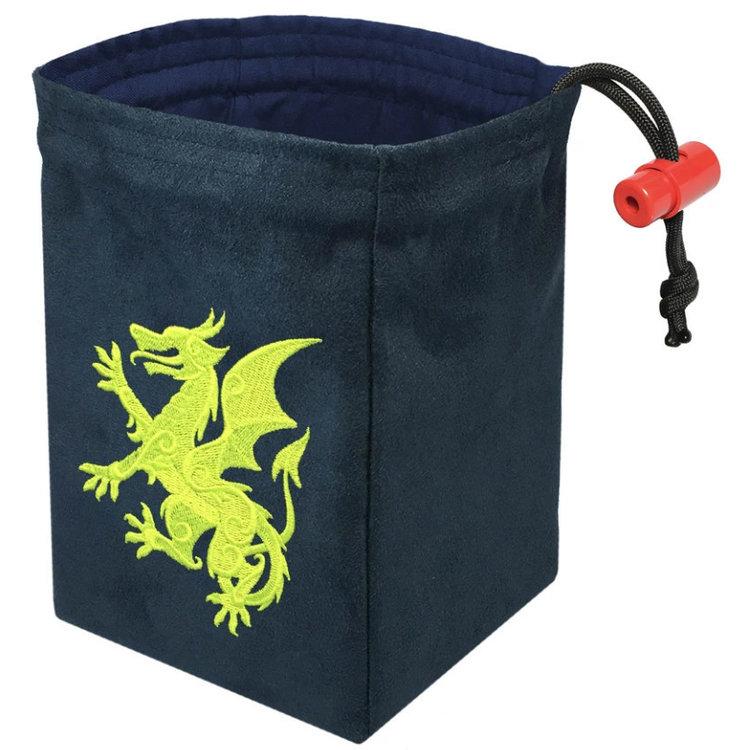 Red King Dice Bag: Gilded Neon Dragon