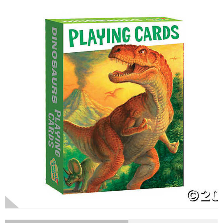 Peaceable Kingdom Peaceable Kingdom Dinosaurs Playing Cards