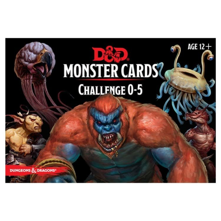 GaleForce9 Dungeons and Dragons 5th Edition: Monster Cards - Challenge 0-5