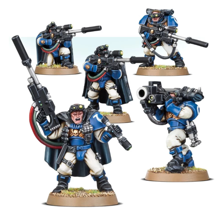 Games Workshop Warhammer 40k: Space Marine Scout Squad with Sniper Rifles