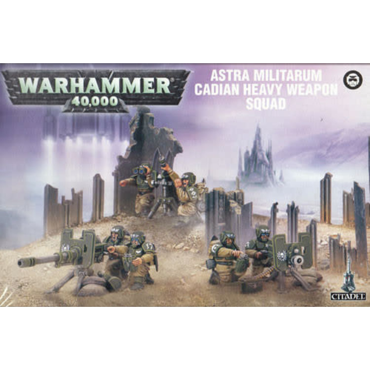 Games Workshop Warhammer 40k: Cadian Heavy Weapon Squad