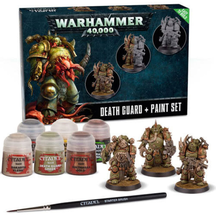 Games Workshop Death Guard + Paint Set (Easy-to-Build)