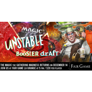 Admission: Unstable Draft (December 14 at Fair Game La Grange)