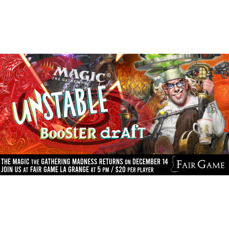 Admission: Unstable Draft (December 14 at Fair Game La Grange)