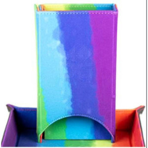 Metallic Dice Games Metallic Dice Games Velvet Dice Tower: Rainbow
