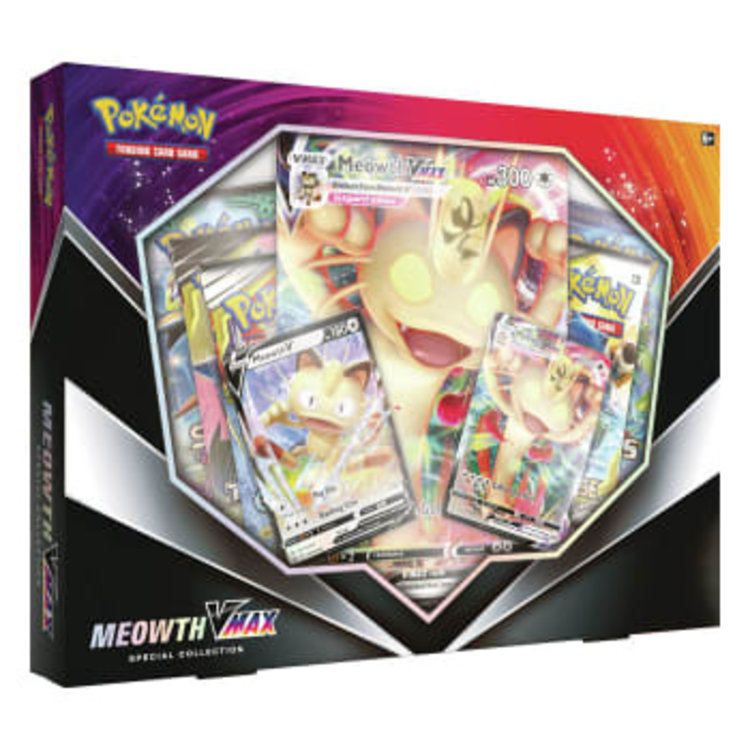 Pokemon International Pokemon Meowth VMAX Collection Box (International Version)