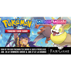 Pokemon International Admission: Pokemon Sword and Shield Prerelease (La Grange January 26)
