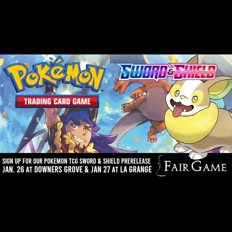 Pokemon International Admission: Pokemon Sword and Shield Prerelease (Downers Grove Jan 25)