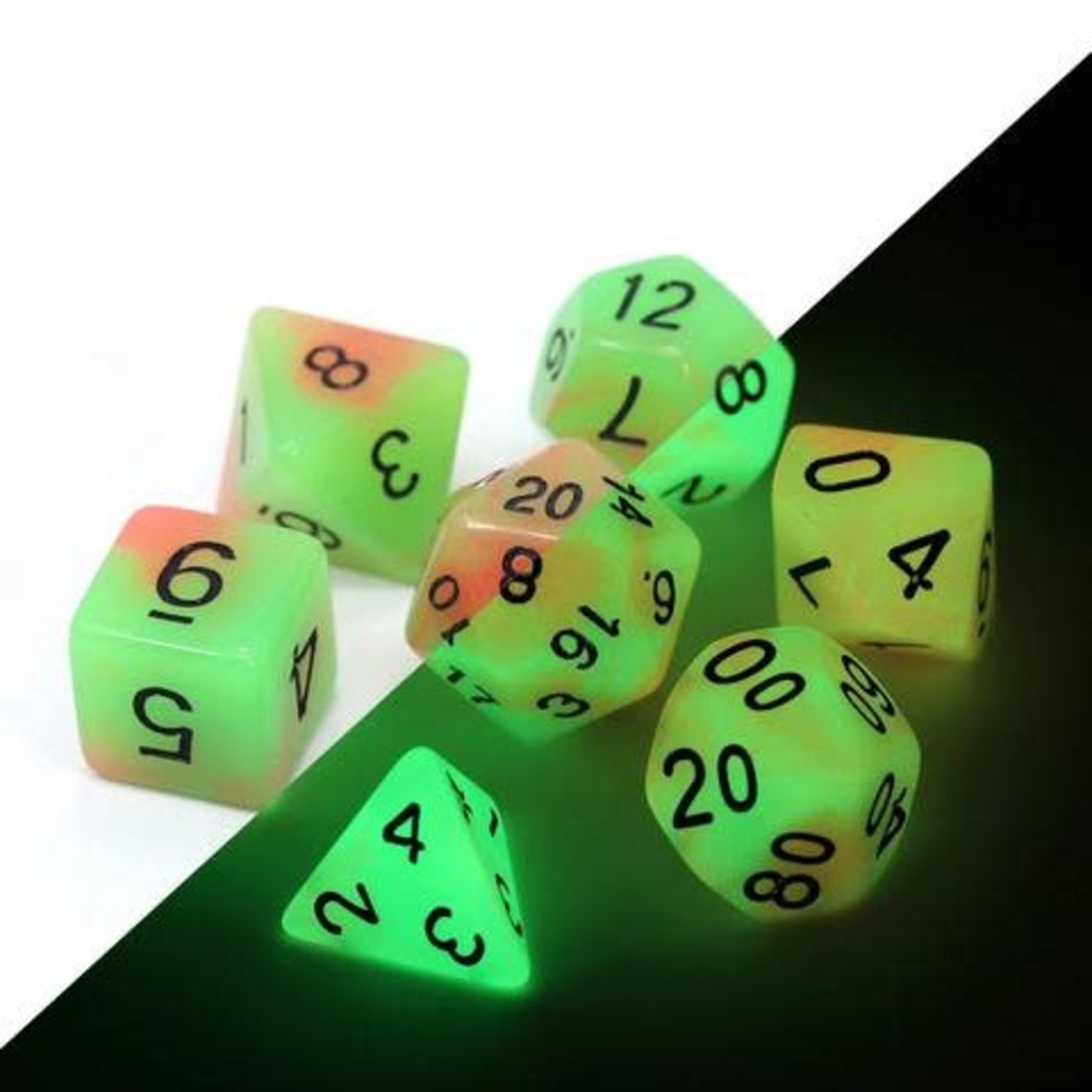 Die Hard Dice Die Hard Dice: Polyhedral Dice Set - Glow/Dark Poison Ivy