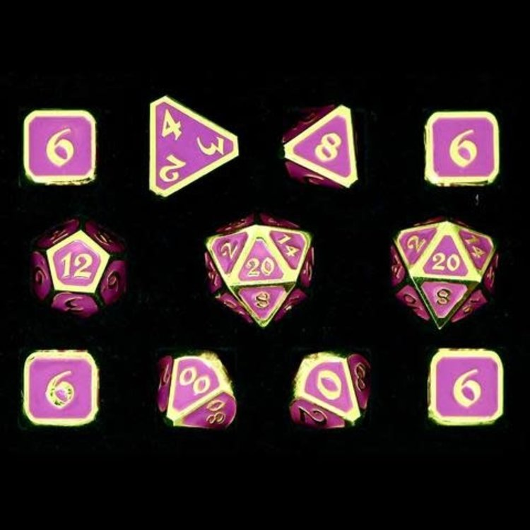 Die Hard Dice Die Hard Dice: Polyhedral Metal Dice Set - AfterDark Neon Nightlife 11pc