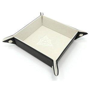 Die Hard Dice Die Hard Dice: Folding Square Dice Tray - Cream
