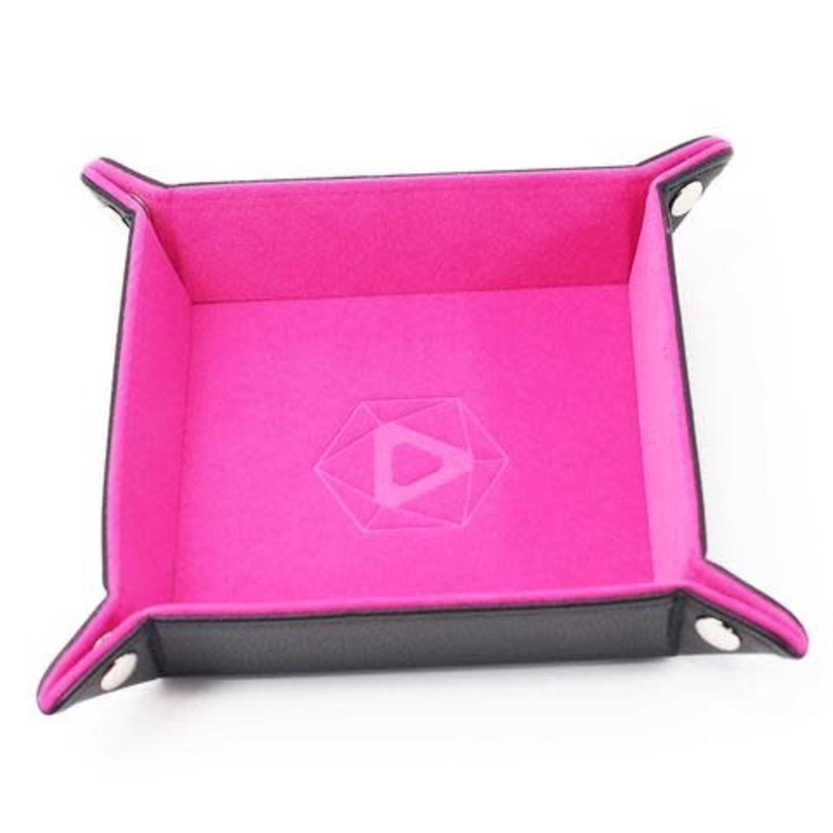Die Hard Dice Die Hard Dice: Folding Square Dice Tray - Pink