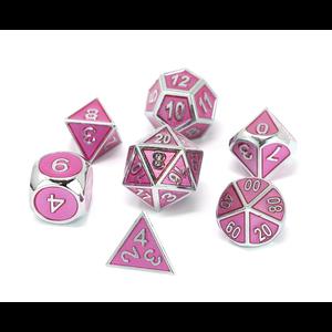 Die Hard Dice Die Hard Dice: Gemstone Metal Dice Set - Pink Sapphire