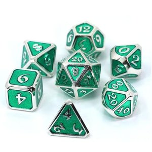 Die Hard Dice Die Hard Dice: Polyhedral Metal Dice Set - Mythica Platinum Emerald