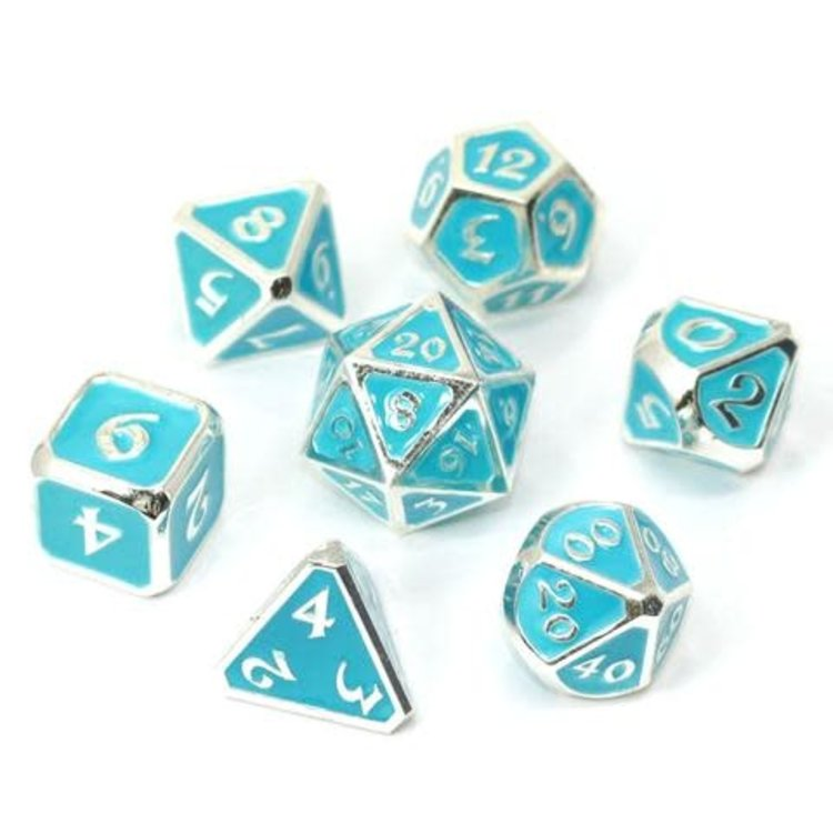 Die Hard Dice Die Hard Dice: Polyhedral Metal Dice Set - AfterDark Neon Rain