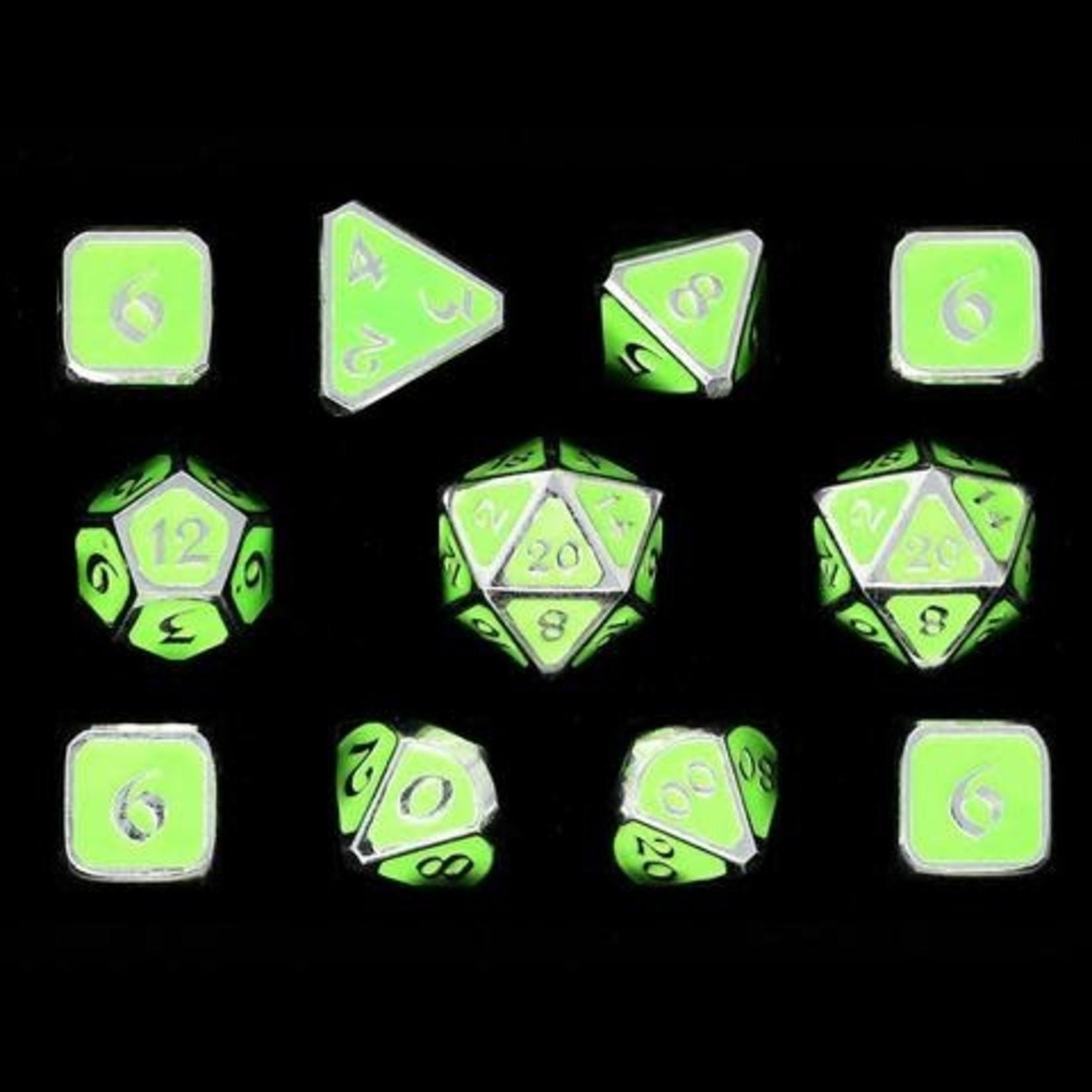 Die Hard Dice Die Hard Dice: Polyhedral Metal Dice Set - AfterDark Neon Rave 11pc