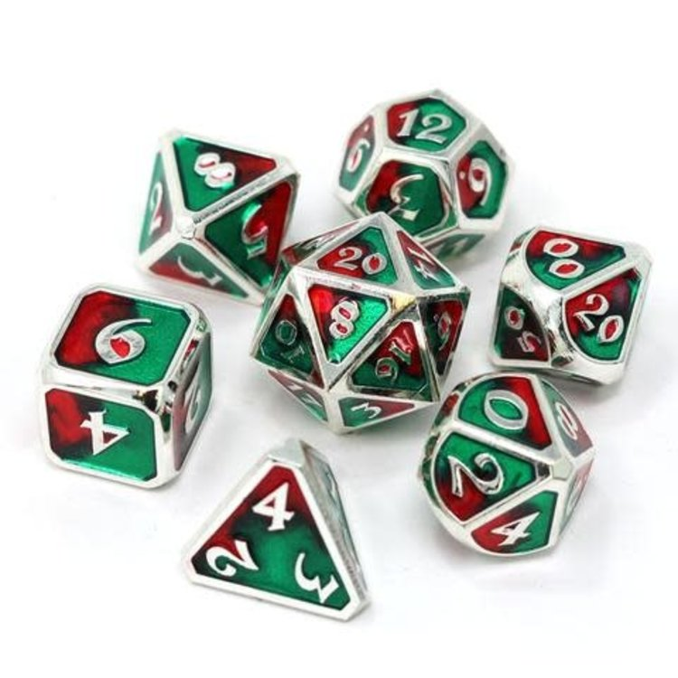 Die Hard Dice Die Hard Dice: Polyhedral Metal Dice Set - Spellbinder Holly Daze