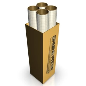 "Gaming Paper Gaming Paper: Tan 1"" Square Roll Full Case (4)"