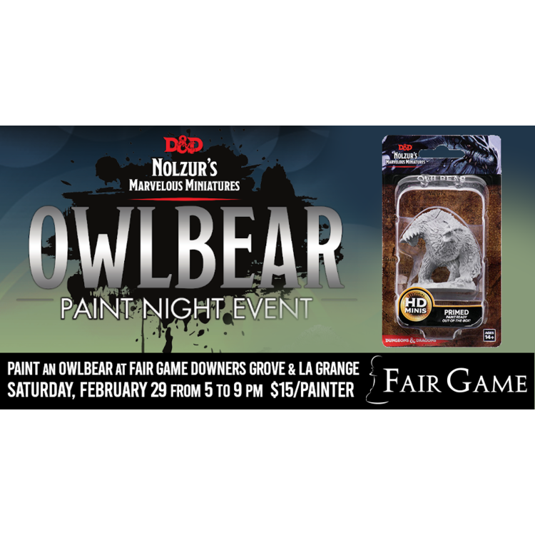 WizKids Admission: Owlbear Paint and take Event (Downers Grove February 29)