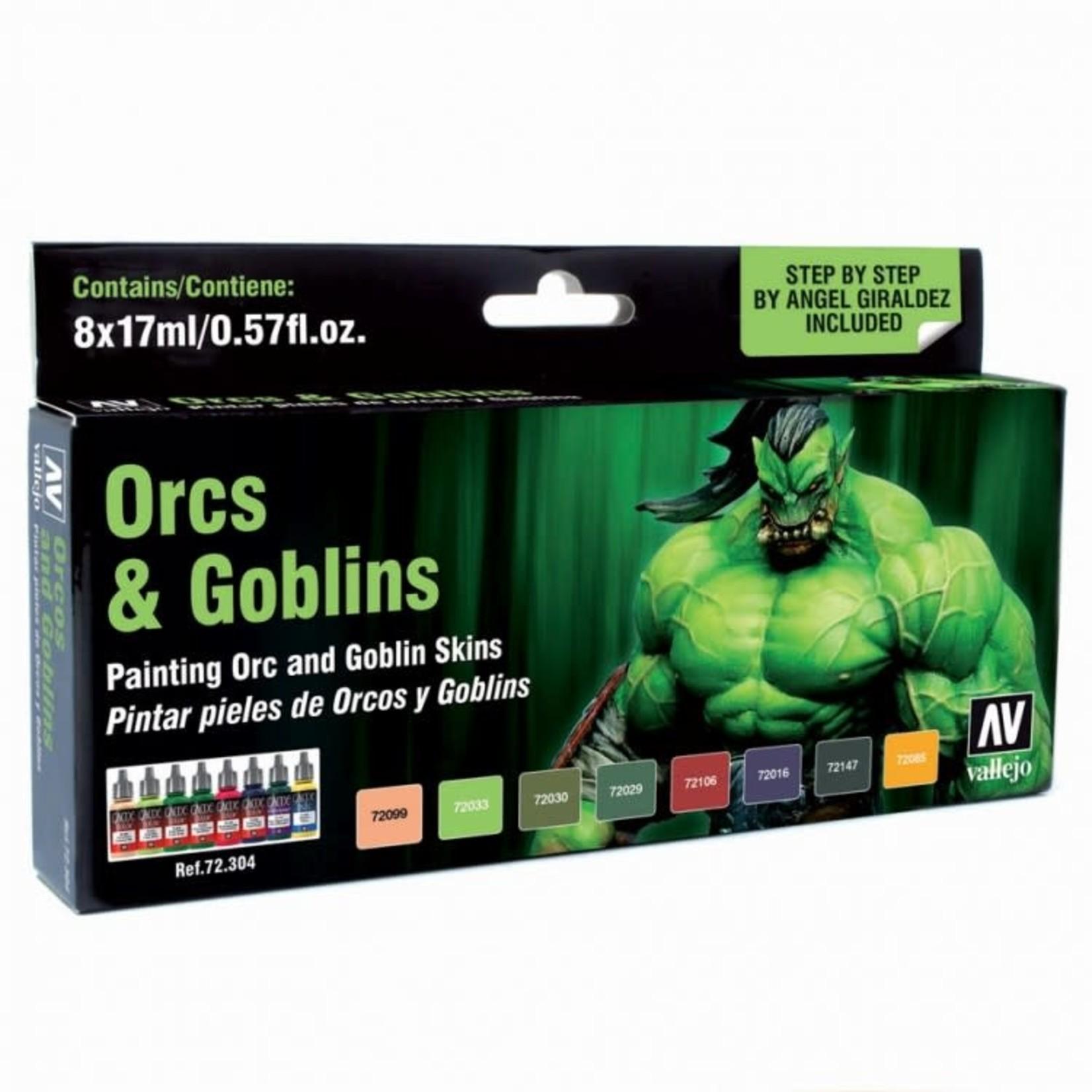 Vallejo Vallejo: Game Color: Orcs & Goblins Color Set (8)