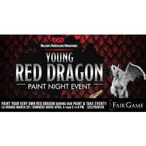 WizKids Admission: Young Red Dragon Paint and take Event (Downers Grove April 4)