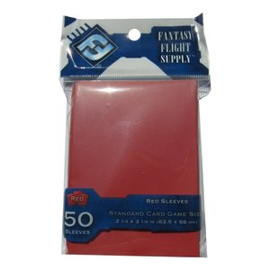 Fantasy Flight Games Fantasy Flight Games: Standard Card Game Sleeves - Red (50)