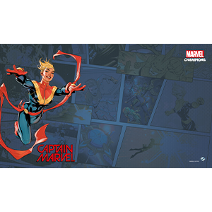 Fantasy Flight Games Marvel Champions Living Card Game: Captain Marvel Game Mat