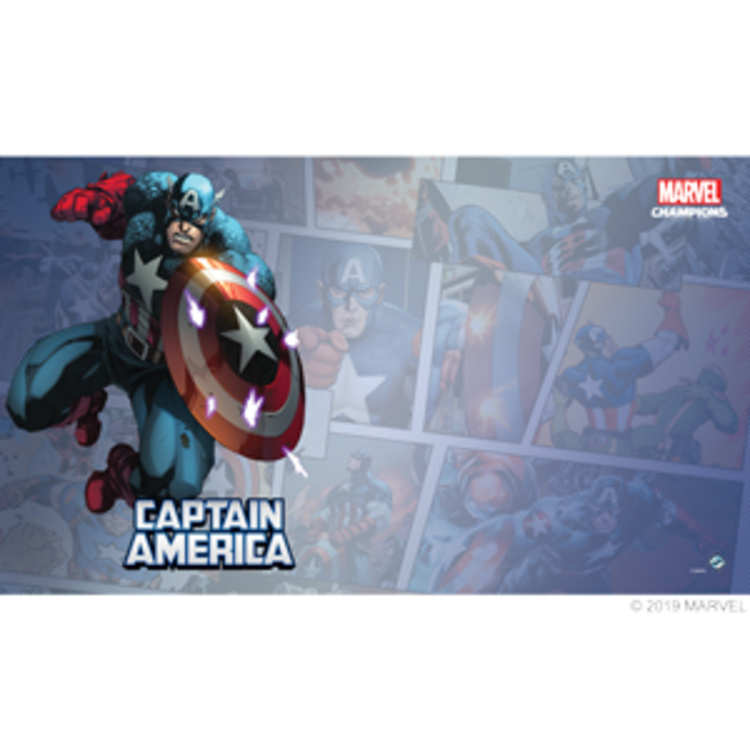Fantasy Flight Games Marvel Champions Living Card Game: Captain America Game Mat
