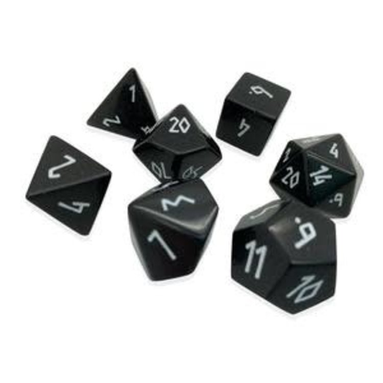 Norse Foundry Norse Foundry Dice: Gemstone Dice Set - Black Obsidian